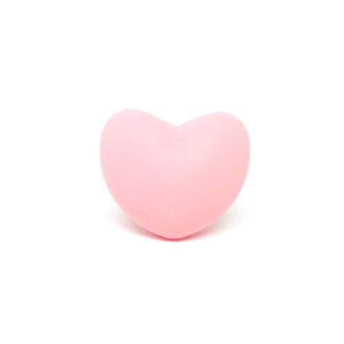 Perle Coeur Silicone Rose Quartz