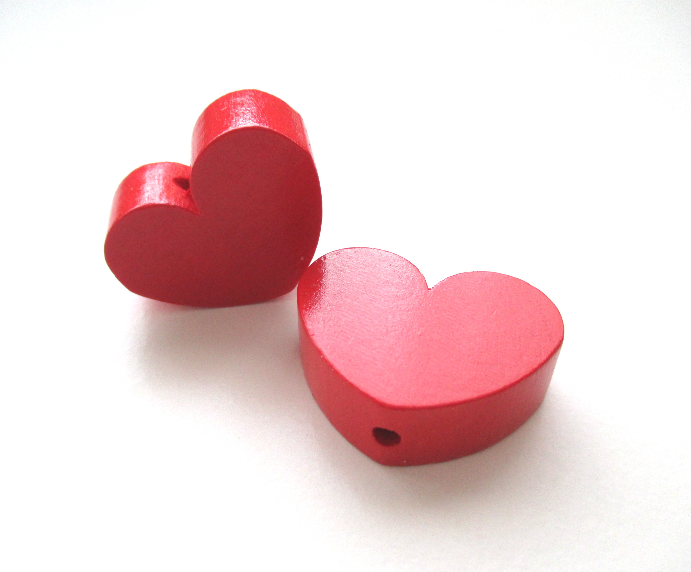 Perle en bois coeur