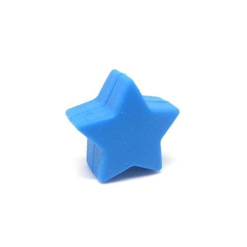 Perle Petite Etoile Silicone Bleu Royal