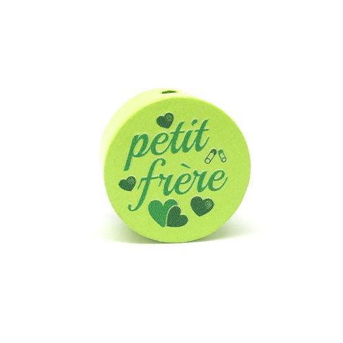 Perle en Bois Petit Frère Vert Anis