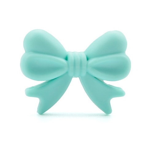 Perle Noeud Silicone Turquoise Clair