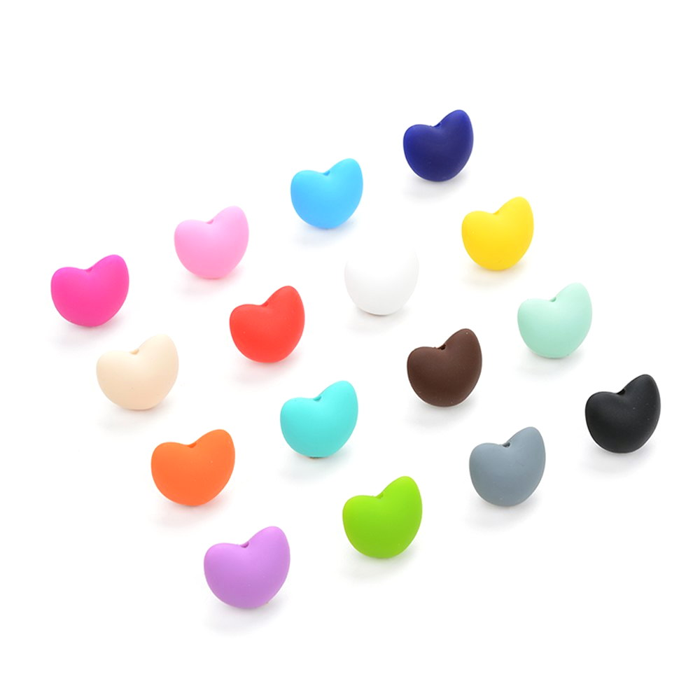 Perles coeur silicone pour bébé