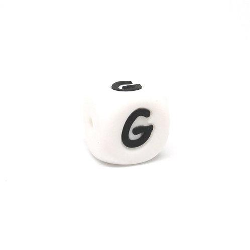 Perle Alphabet Silicone - Lettre G