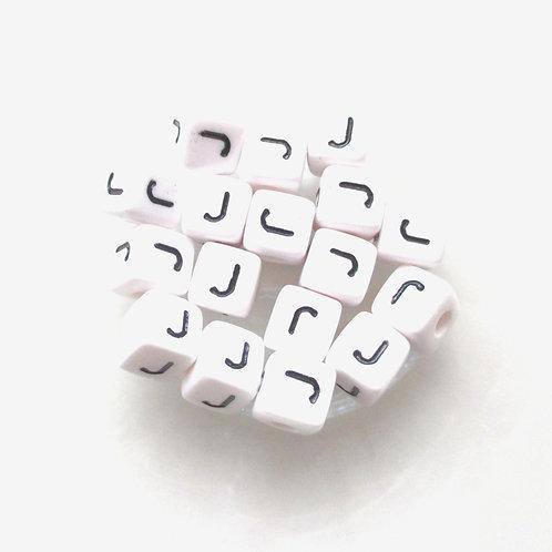 Perle Alphabet Acrylique - Lettre J