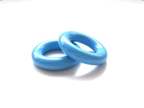 Anneau en Bois 35mm Bleu Ciel