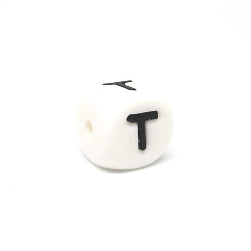 Perle Alphabet Silicone - Lettre T