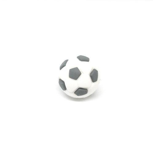 Perle Ballon de Foot Silicone Blanc & Gris