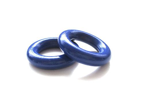 Anneau en Bois 35mm Bleu Marine