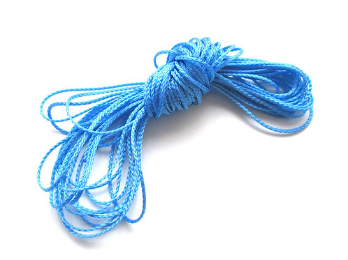 1 mètre Fil Polyester pour Attache Tétine Bleu Ciel