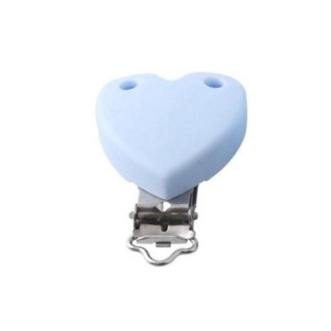Clip Coeur Silicone Bleu Tendre
