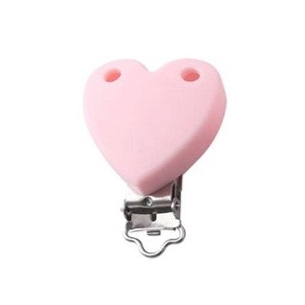 Clip Coeur Silicone Rose Quartz