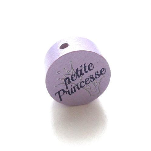Perle en Bois Petite Princesse Mauve