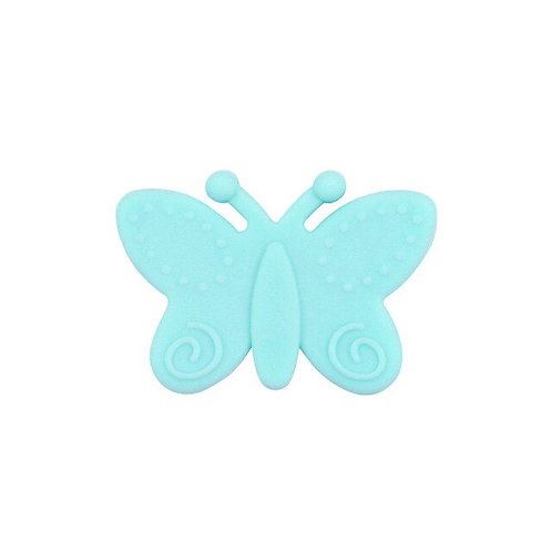 Perle Papillon Silicone Turquoise Clair