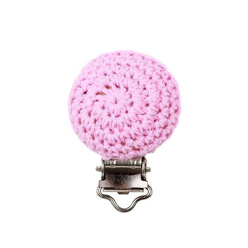 Clip Crochet et Bois Rose Tendre