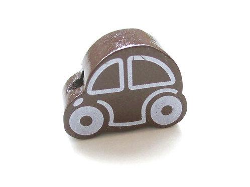 Perle en bois Petite Voiture Chocolat