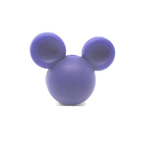Perle Grand Mickey 3D Silicone Bleu Marine