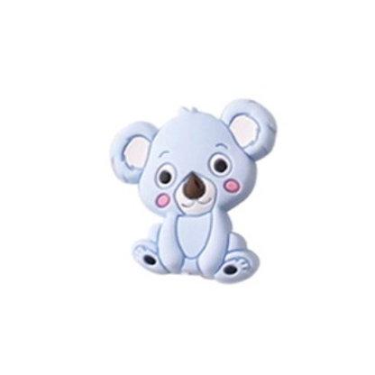 Perle Koala Silicone Bleu Tendre