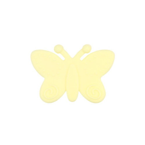 Perle Papillon Silicone Jaune tendre