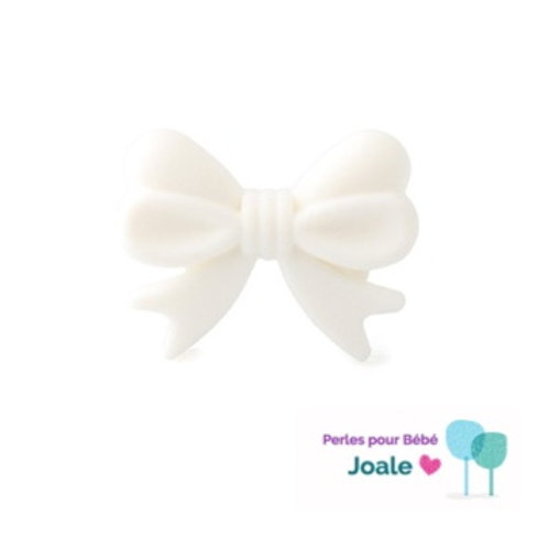 Perle Noeud Silicone Blanc