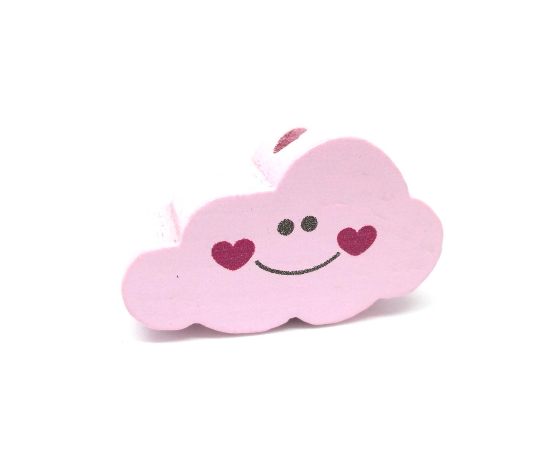 Perle en bois pour bébé nuage