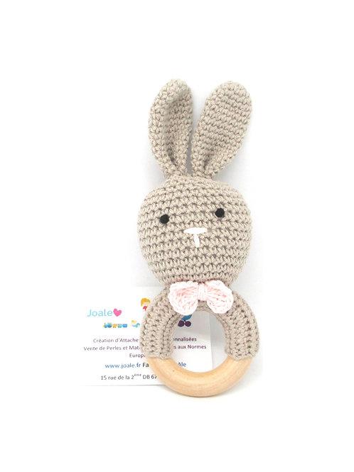 Hochet crochet lapin