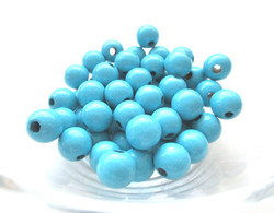 Perles pour attache tetine turquoise joale