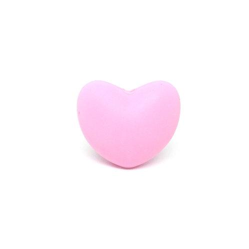 Perle Coeur Silicone Rose Clair