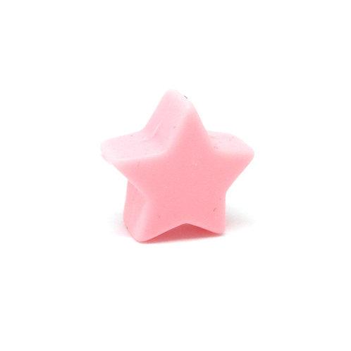 Perle Petite Etoile Silicone Rose Quartz
