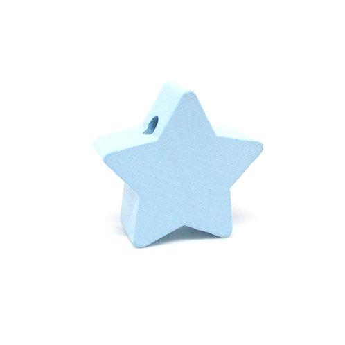 perle bois etoile bleu