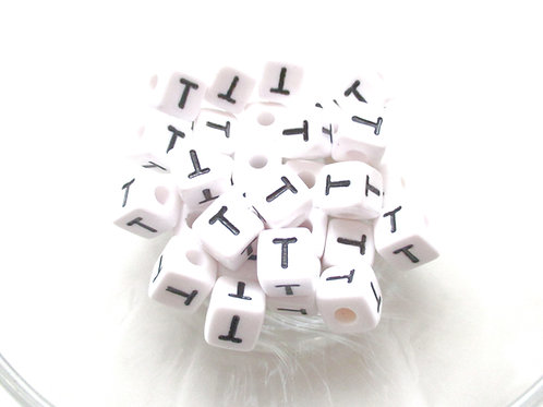 Perle Alphabet Acrylique - Lettre T