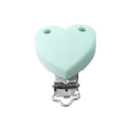 Clip Coeur Silicone Mint