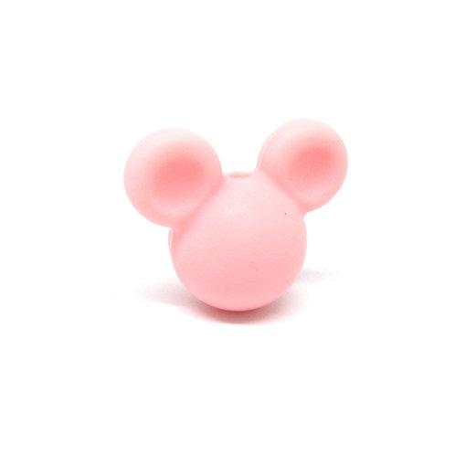 Perle Petit Mickey 3D Silicone Rose Quartz