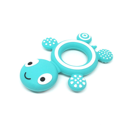 Tortue Silicone Spécial Dentition Turquoise