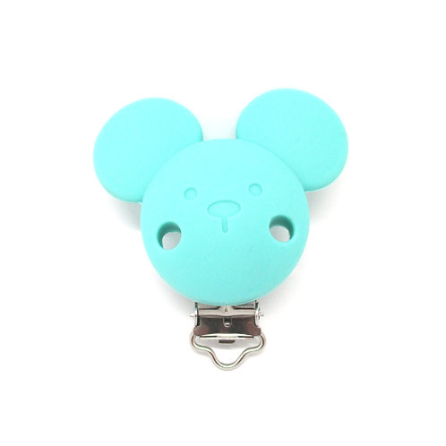 Clip Mickey Silicone Turquoise Clair