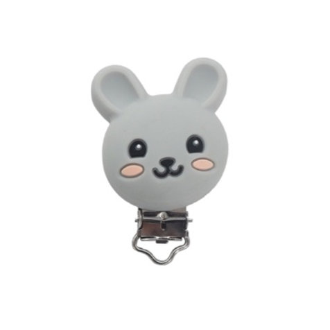 Clip Lapin Silicone Gris