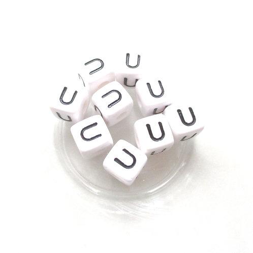 Perle Alphabet Acrylique - Lettre U
