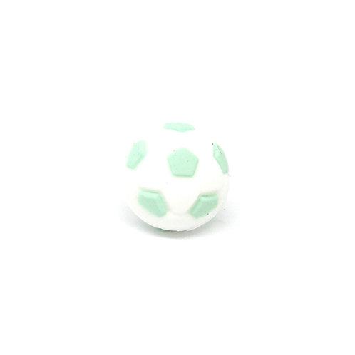 Perle Ballon de Foot Silicone Blanc & Mint