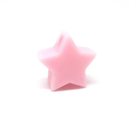 Perle Petite Etoile Silicone Rose Tendre