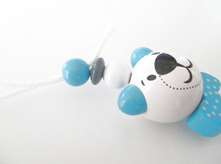 Tuto attache tetine perles en bois