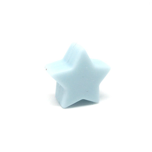 Perle Petite Etoile Silicone Bleu Tendre