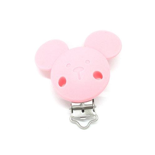 Clip Mickey Silicone Rose Quartz