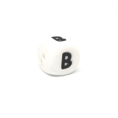 Perle Alphabet Silicone - Lettre B
