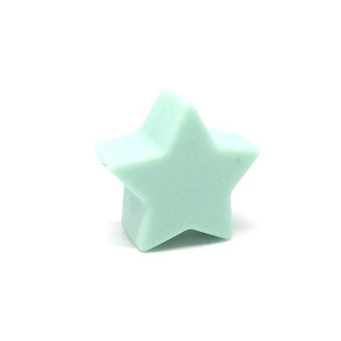 Perle Petite Etoile Silicone Mint