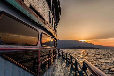 Sunset on Samosir Island