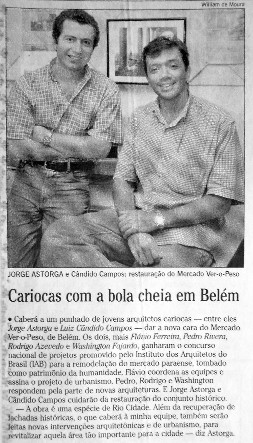 e uma nota publicada no jornal O GLOBO (06/03/1999, p. 14)