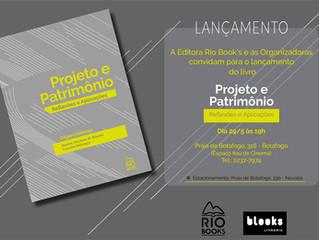 """Lançamento do livro """"Projeto e Patrimônio: Reflexões e Aplicações"""""""