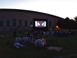 Outdoor Movie in the Park Utah City Sized Screen