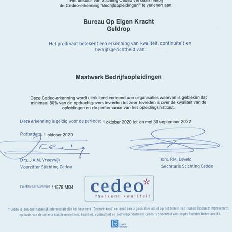 Bureau Op Eigen Kracht scoort een 9,8 tijdens het onafhankelijk klanttevredenheidsonderzoek CEDEO.