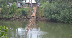 The Damaged Suspension Bridge