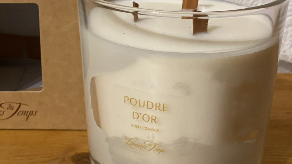 BOUGIE 600 GR POUDRE D'OR